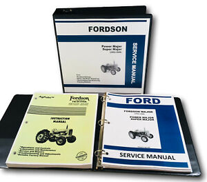 Ford Fordson Major Power Major Tractor Factory Service Repair Manual Shop Book