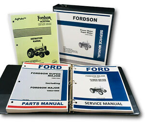 Ford Fordson Major Super Tractor Service Repair Manual Owners Parts Catalog Set