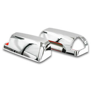 For 2009 2010 Dodge Ram 2500 Chrome Towing Mirror With Signal Light Cut Out Trim