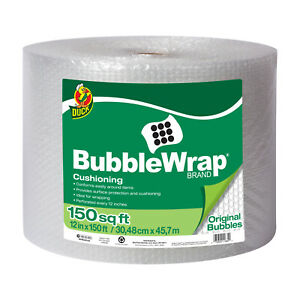 Duck Original 3 16 Inch Bubble Wrap Cushioning 12 In X 150 Ft Clear