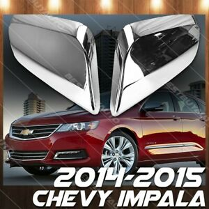 For 2014 2015 Chevrolet Impala Abs Chrome Side Rear View Mirror Cover Molding X2