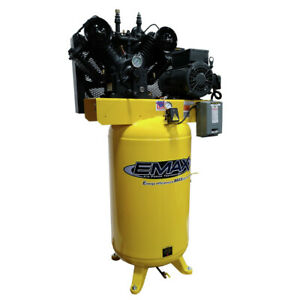 Emax 80 Gallon 10 Hp 2 stage 1 phase Vertical Air Compressor Pe10v080v1 New