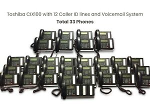 Toshiba Cix100 Professional Phone System With 33 Phones dp5032 sd