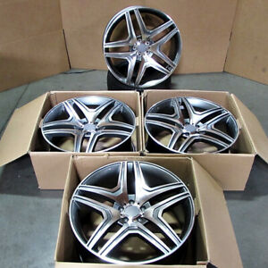 20 Double Spoke Wheels Fit Mercedes Gl350 Gl450 Ml350 Ml Glk 20x9 5 5x112 Set 4