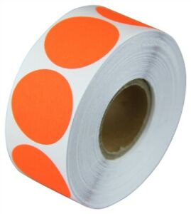3 Adhesive Code Labels Red Dot Inventory Coding Garage Sale Stickers 12 Rolls