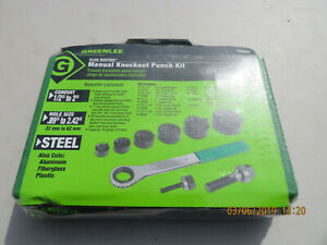 Greenlee Slugbuster Manual Knockout Punch Kit 7238sb 1 2 2 Conduit Sealed