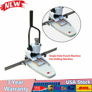 B3 Paper Tags Invoice Manual Single Hole Punch Machine File Drill Machine Us