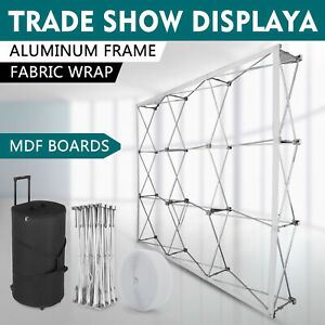 8 8ft Trade Show Booth Pop Up Display Stand Tension Fabric Event Stable On Sale