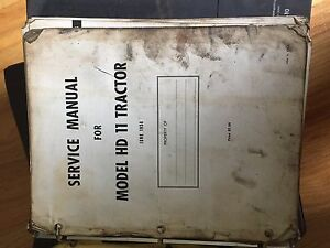 Allis Chalmers Allis chalmers Hd 11 Bull Dozer Service Repair Manual