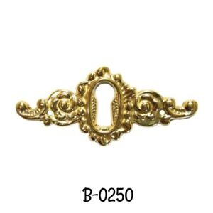 Cast Brass Victorian Style Keyhole Cover Antique Style Brass Keyhole Cover