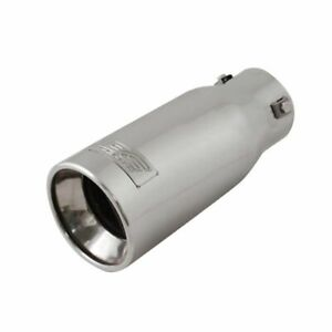 Dc Sports Resonated Stainless Steel 3 Bolt Exhaust Muffler Silencer Tip Ex 1011