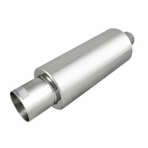 Dc Sports Stainless Steel Mirror Polish Finish Muffler Silencer With Tip Ex 5015