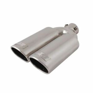 Dc Sports Stainless Steel 3 Bolt Clamp Dual Exhaust Muffler Silencer Tip Ex 2012