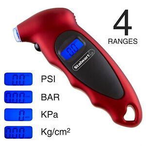 Stalwart Digital Tire Pressure Gauge For Bike Car Truck Tires Up To 150 Psi