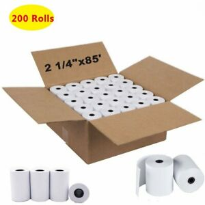 200 Rolls 2 1 4 x 85 Thermal Receipt Paper Roll For Mobile Pos Thermal Printer