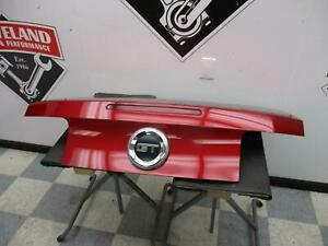 2010 2012 Ford Mustang Gt Oem Coupe Rear Trunk Decklid Lid W o Spoiler Candy Red