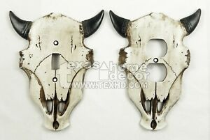 Western Cow Skull Longhorn Switch Plate Covers Outlet Toggle 8quot; tall x 6.25 Wide $13.95