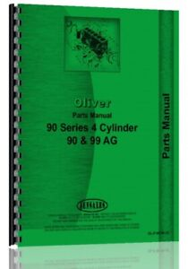 Parts Manual Oliver Cockshutt 90 900 99 Tractor
