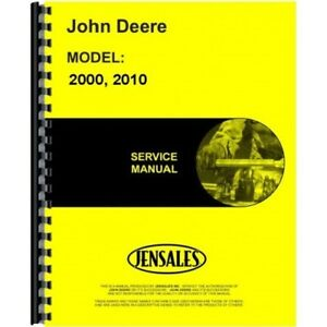 John Deere 2000 Series 2010 Crawler Tractor Service Shop Repair Manual Sm2037