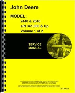John Deere 2440 2640 Tractor Service Shop Repair Manual Tm1219