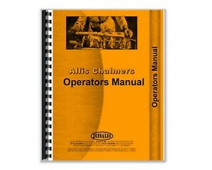 Operators Manual Allis Chalmers 8050 8070 Diesel Tractor