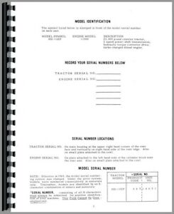 Parts Manual Allis Chalmers Hd11ep Crawler Sn 10001 14650