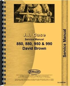 Case David Brown 850 880 950 Tractor Service Shop Manual