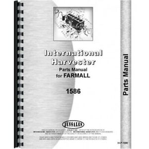 International Farmall 1586 Diesel Tractor Chassis Only Parts Manual Catalog