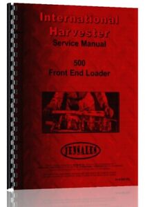 Service Manual International Harvester 500 Rubber Tire Front End Loader