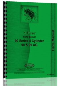 Oliver 90 99 900 4 Cyl Tractor Parts Manual Catalog