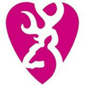 Browning 5 Pink Heartbreaker Decal Sticker Pnk 3922351551