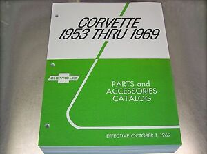 53 69 Corvette Master Parts Catalog Accessories Ac Delco