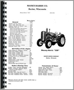 Parts Manual Massey Harris 55 Tractor