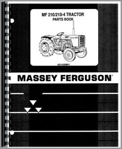 Parts Manual Massey Ferguson 210 Diesel Compact 2 4 Wheel Drive Tractor