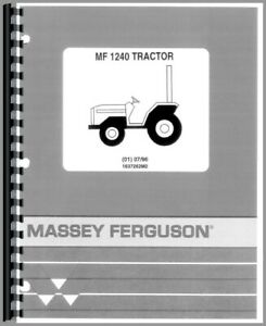 Parts Manual Massey Ferguson 1240 Diesel Compact Tractor
