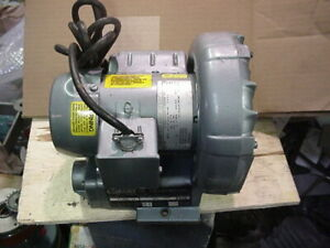 Gast R1102 Regenerative Ring Blower Vacuum 1 8hp 1ph 115v Regenair R1102c 14