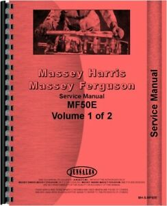 Service Manual Massey Ferguson 50e Tlb Tractor Loader Backhoe