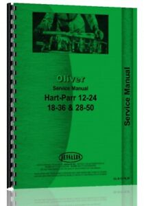Service Manual Oliver Hart Parr 18 36 24 12 28 50 Tractor