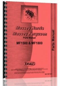 Parts Manual Massey Ferguson 1500 1800 Diesel Tractor