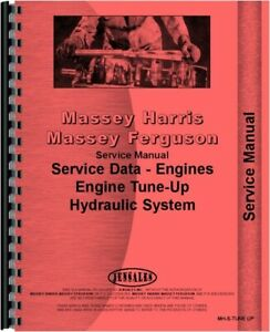 Massey Harris 22 33 44 55 Colt Mustang Tractor Engine Hydraulics Service Manual