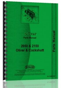 Parts Manual Oliver White 2050 2150 Tractor