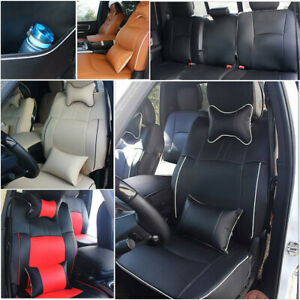 For Dodge Ram 1500 2500 3500 2009 2018 Car Seat Covers Pad Pu Leather W armrest
