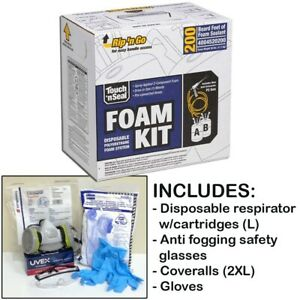 Touch n Seal U2 200 Spray Foam Insulation Kit 200bf W protective Gear large