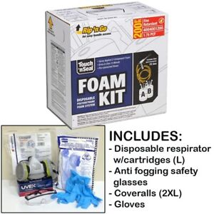 Touch n Seal U2 200 Fr Spray Foam Insulation Kit 200bf W protective Gear large