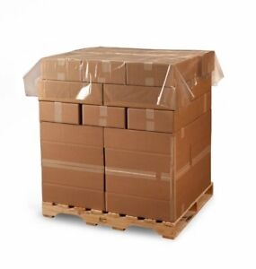 60 X 60 1 5 Mil Clear Plastic Pallet Cover Top Sheet 250 Bags roll Ld5955