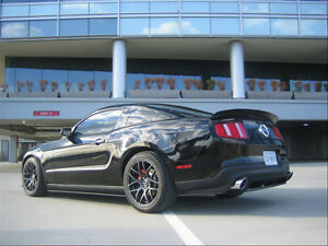 19 Black Eurotek Wheels For Ford Mustang Gt 2005 2012 Staggered Rims Set