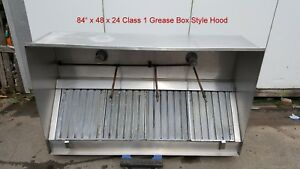 84 Hood Grease Commercial Restaurant Kitchen Exhaust Ansul Pre piped Lights