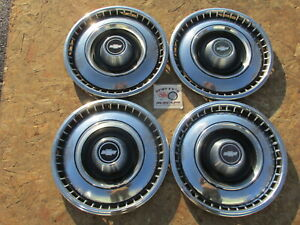 1968 69 Chevy Impala Caprice Biscayne 15 Wheel Covers Hubcaps Set Of 4