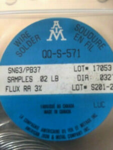 Solder 032 Sn63 pb37 Resin Core For Electronic Circuit boards Ect 02 Lb