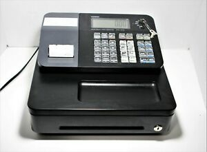 Casio Pcr t273 Electronic Cash Register Thermal Printer With Keys Tested Works